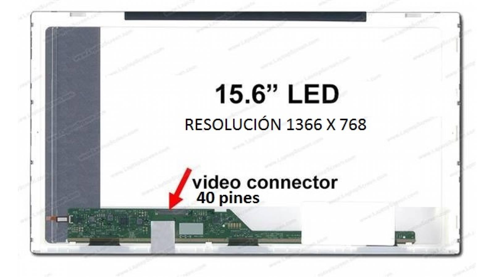 """PANTALLA LED 15.6"""" comun -40 pines"""