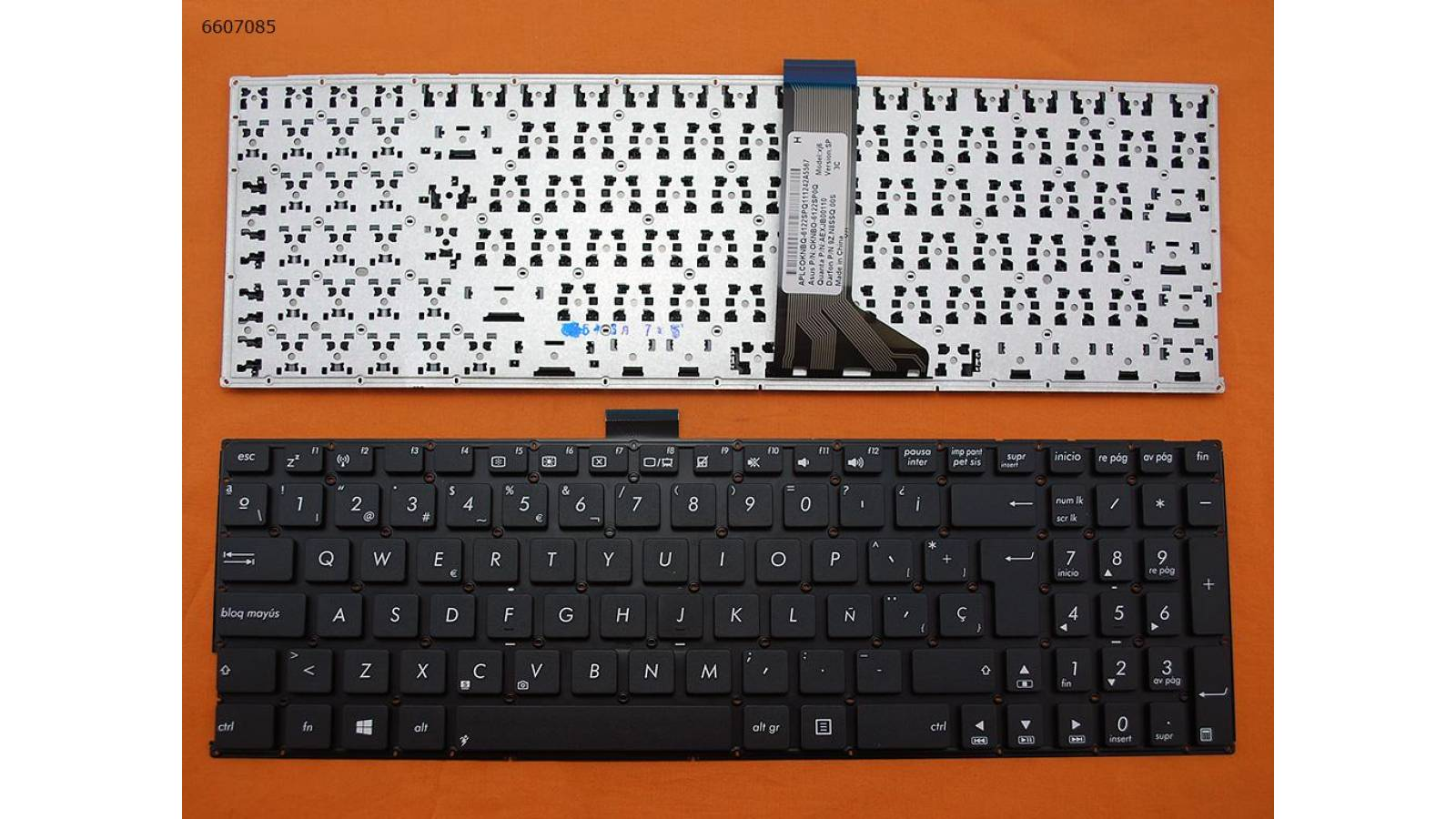 TECLADO ASUS K555 X555 BLACK(WITHOUT FRAME,FOR WIN8)