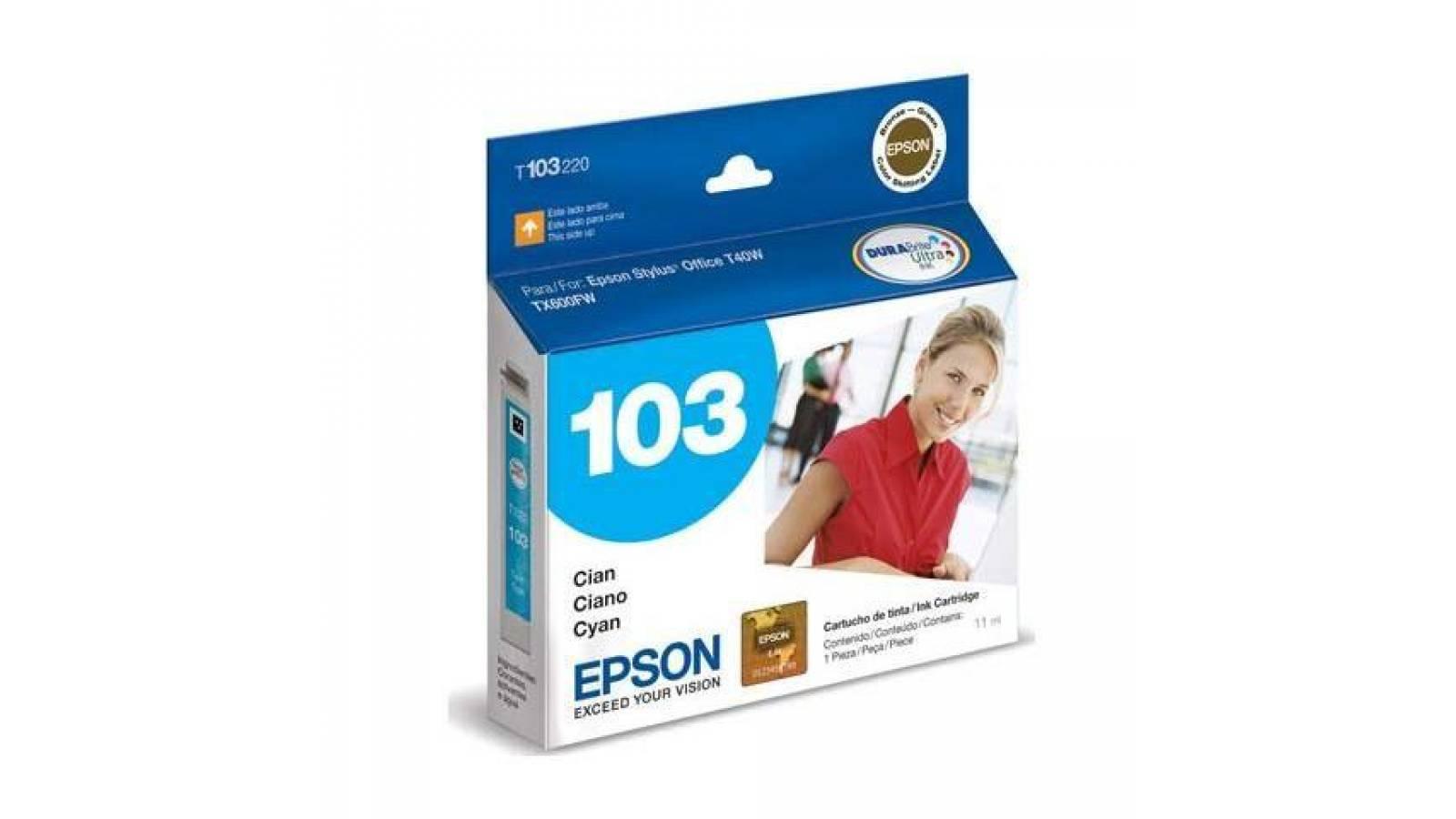 CARTUCHO ORIGINAL EPSON 103 CYAN -T40W TX600FW- TX550W