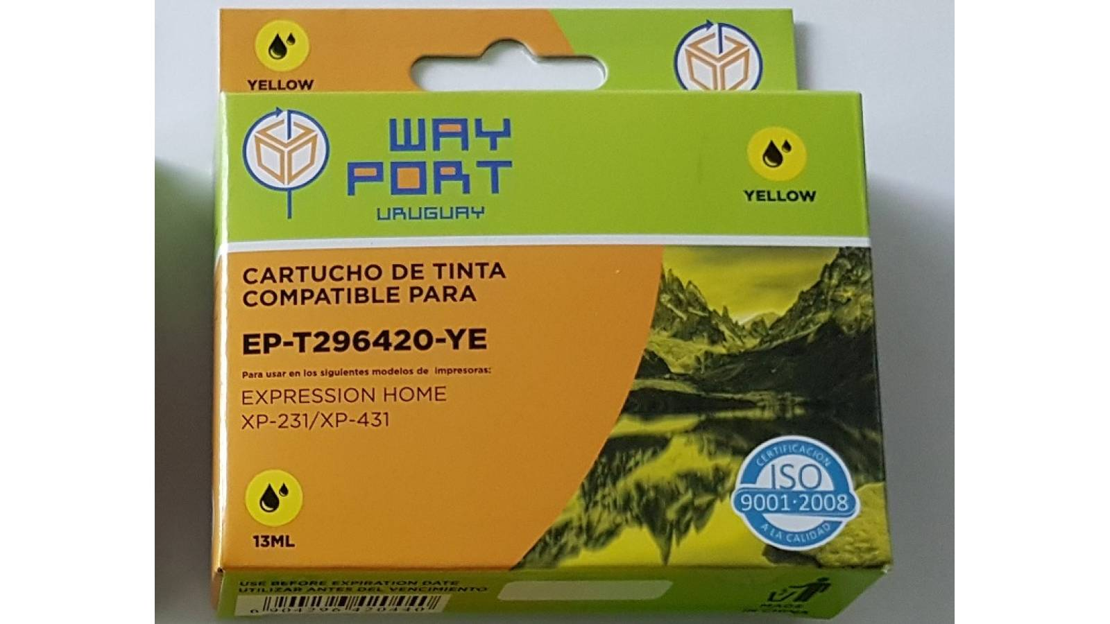 CARTUCHO COMPATIBLE WP PARA EPSON  XP231 / XP431 13ML - AMARILLO