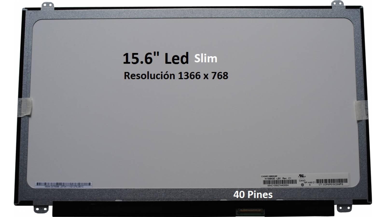 "PANTALLA 15.6"" LED SLIM N156BGE-LB1- 40 pines"