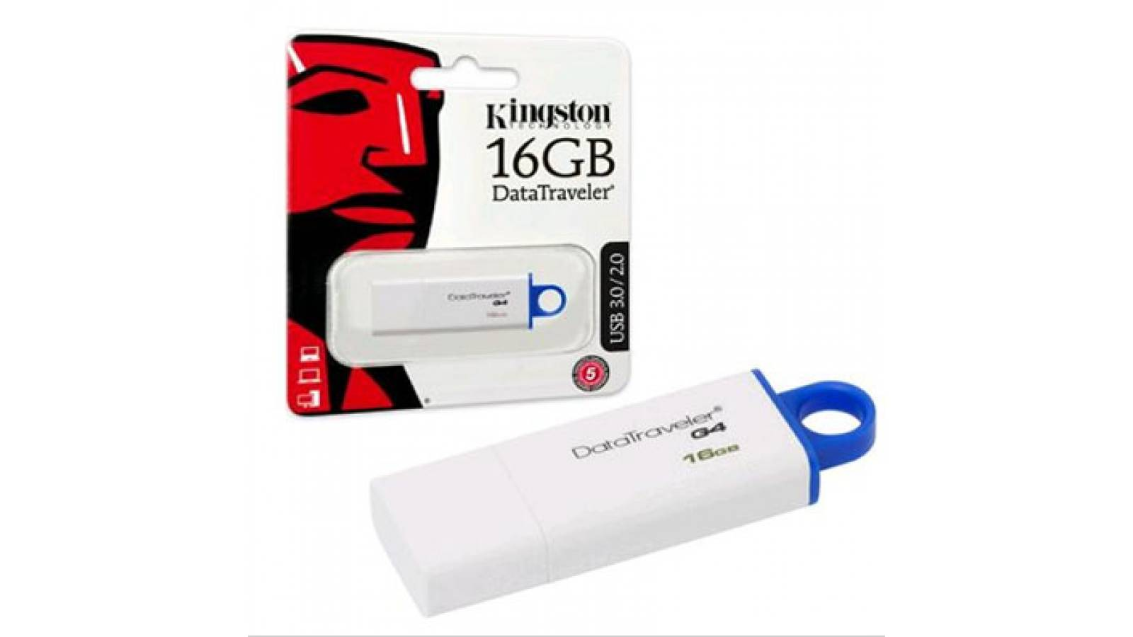 PENDRIVE KINGSTON 16GB DTIG4/16GB, USB 3.0