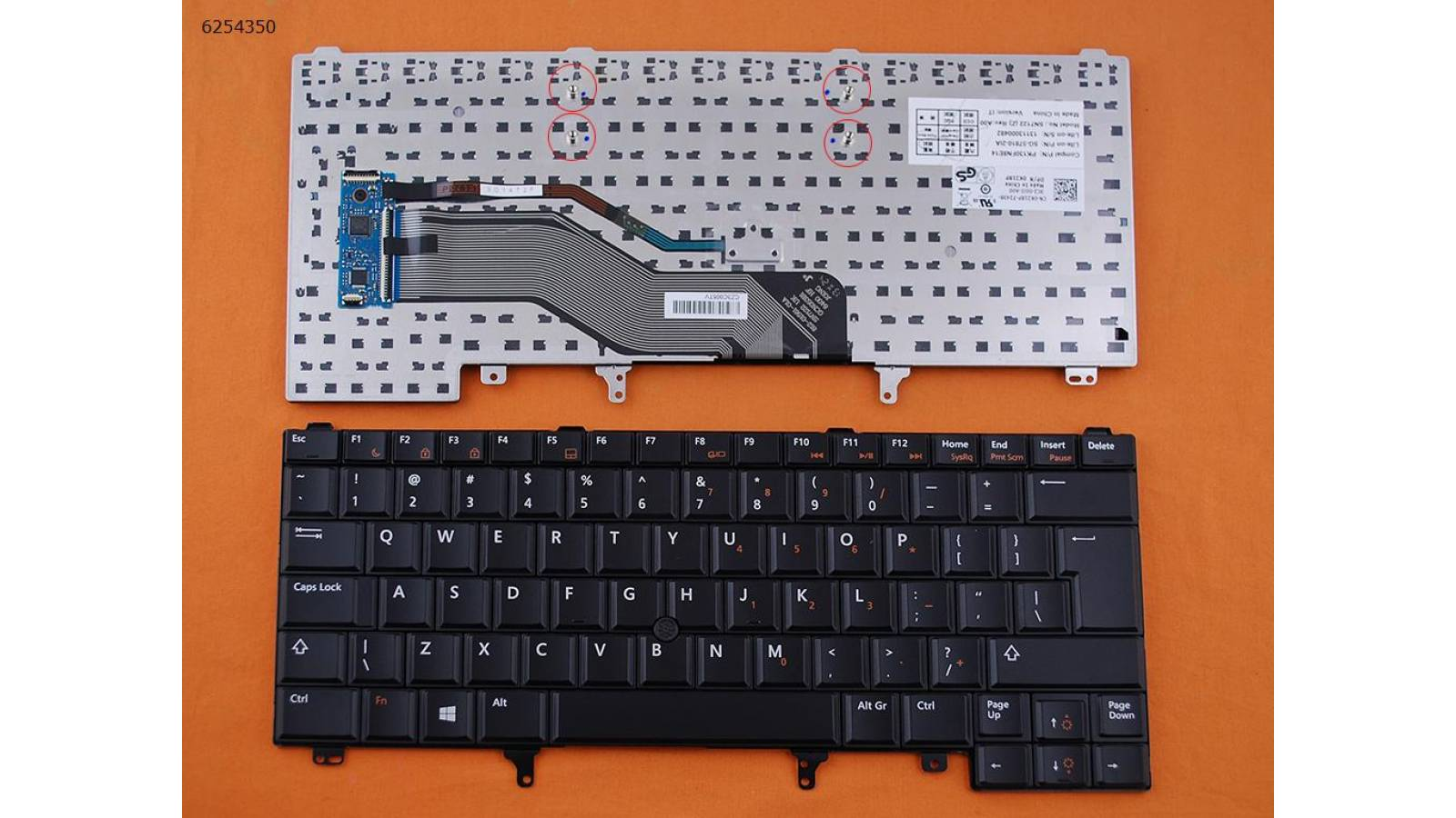 TECLADO NOTEBOOK DELL LATITUDE E6420 E5420 E6220 E6320 E6430 US