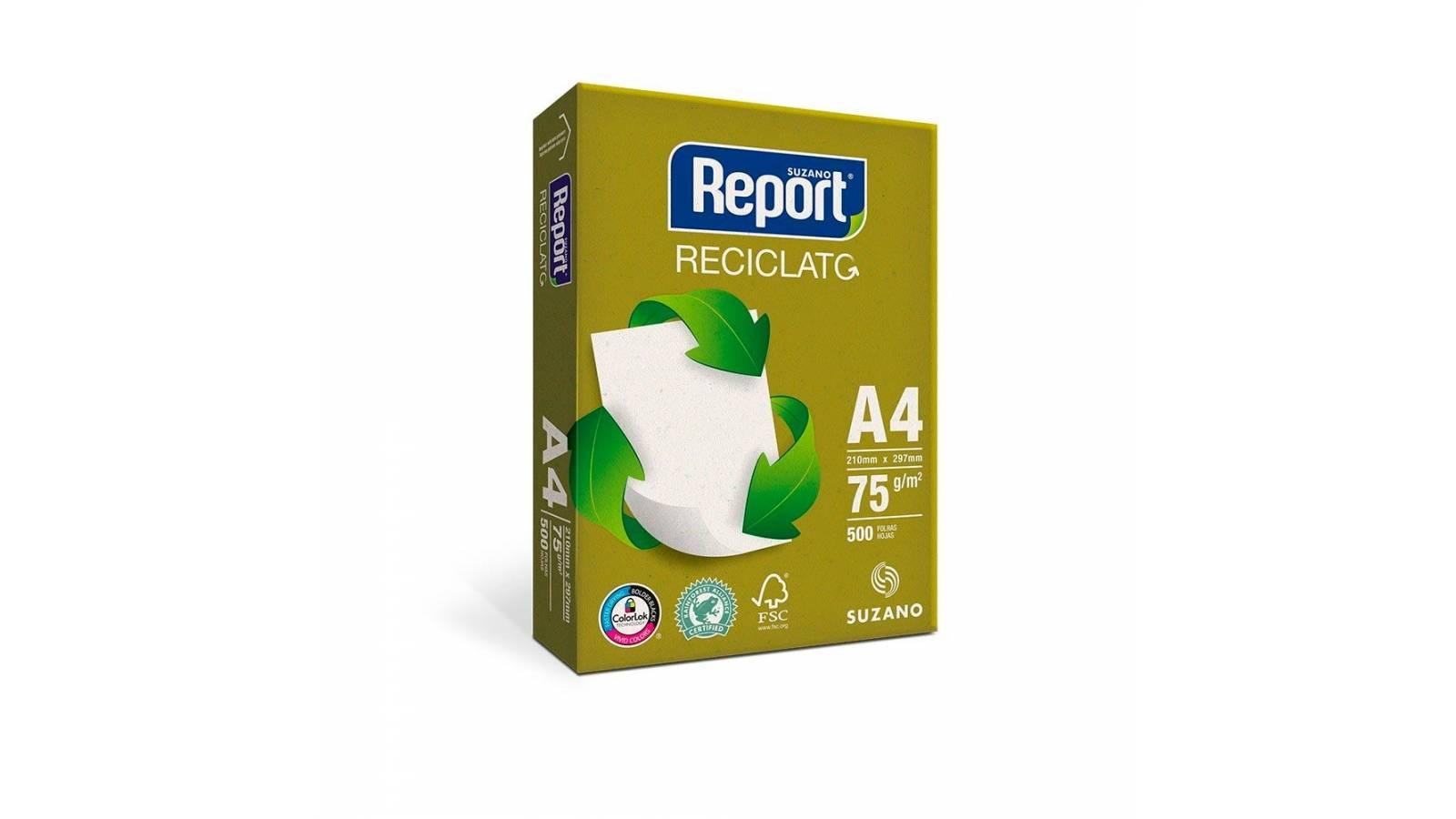 Papel A4 Report Reciclato 500 hojas - 75 Grs