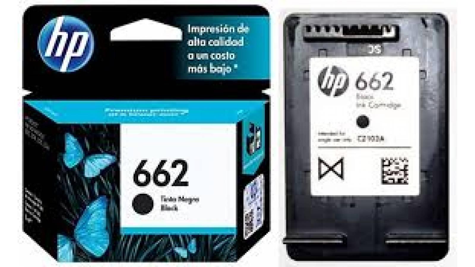 CARTUCHO ORIGINAL  HP 662 NEGRO