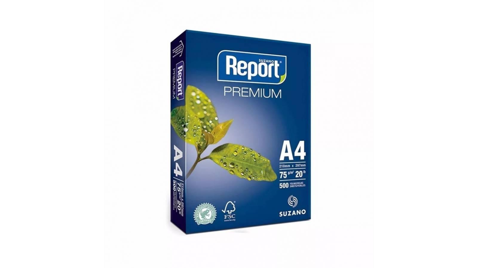 PAPEL A4 REPORT PREMIUM 500 H-75GS