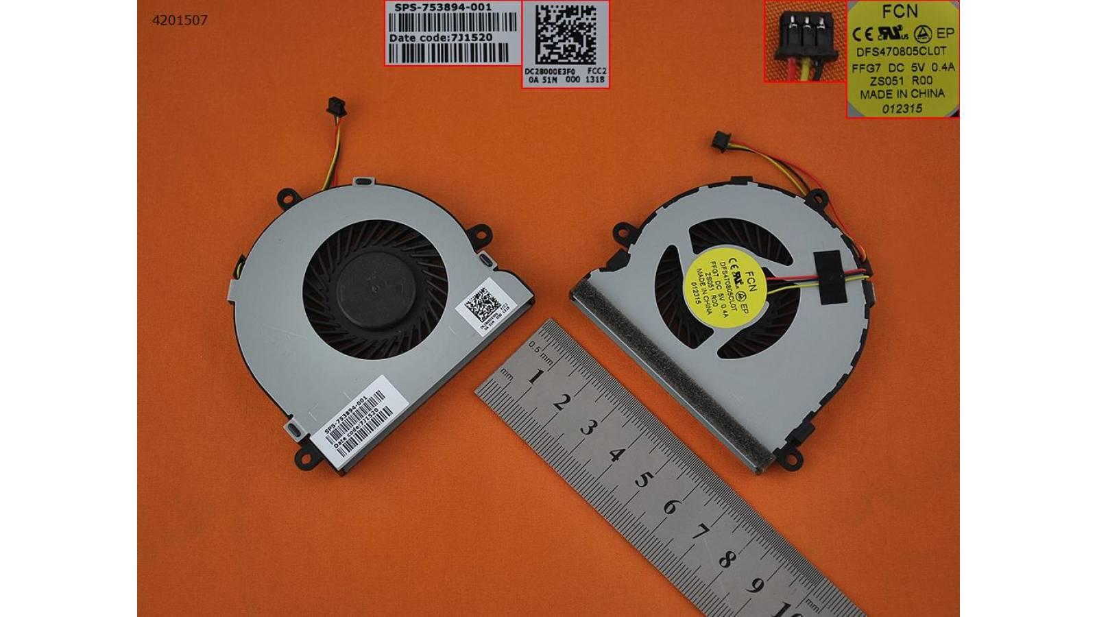 FAN COOLER HP PAVILION 15-G000 15-G100 15-G200 15-R000 15-R100 245 G3 HP 15-G