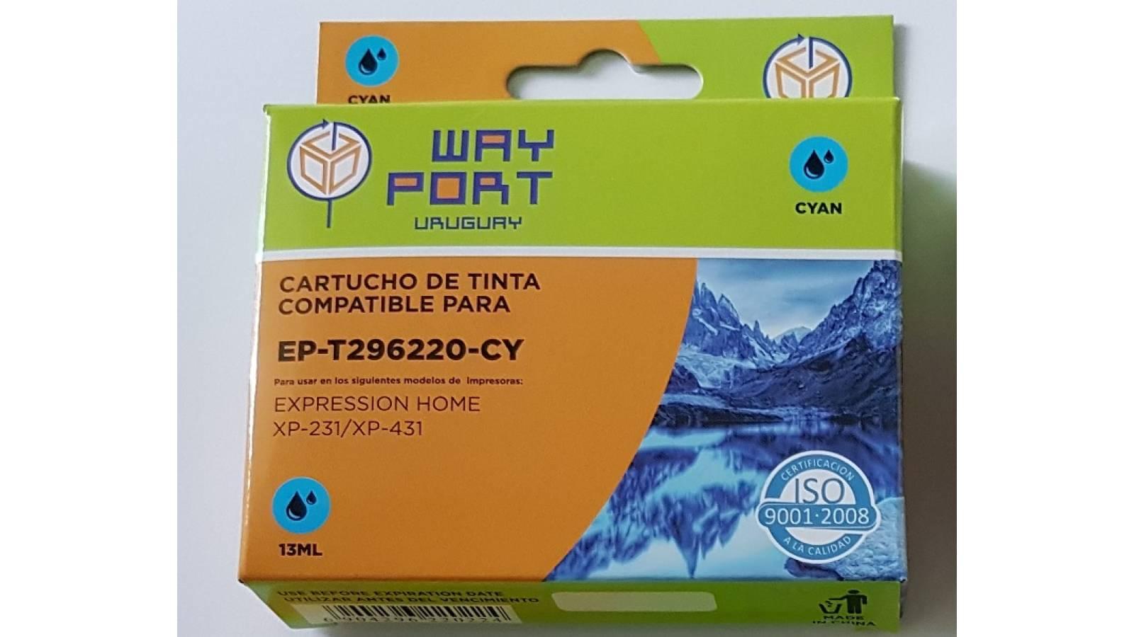 CARTUCHO COMPATIBLE WP PARA EPSON  XP231 / XP431 13ML - CYAN