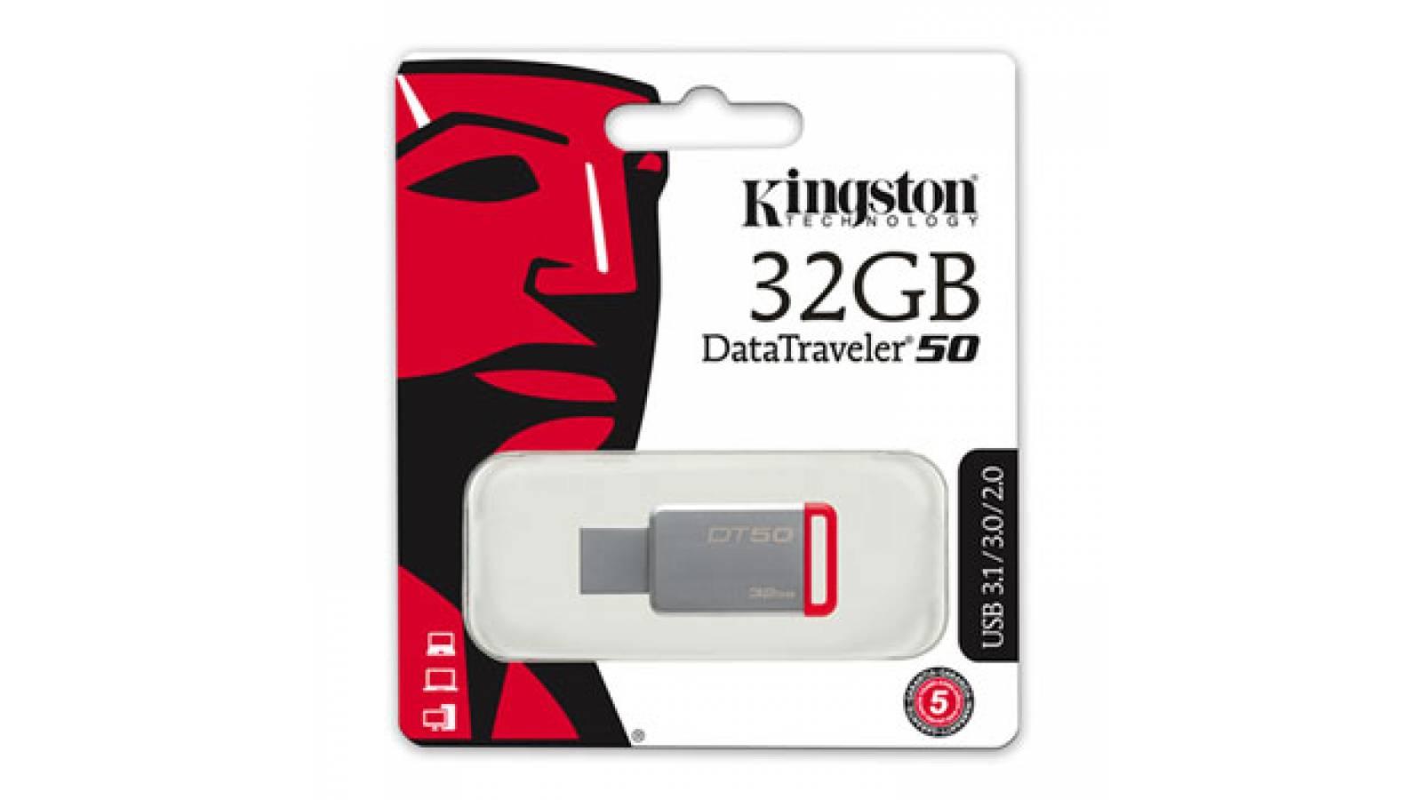 PENDRIVE KINGSTON 32 GB USB 3.0 USB 3.1, DT50/32GB