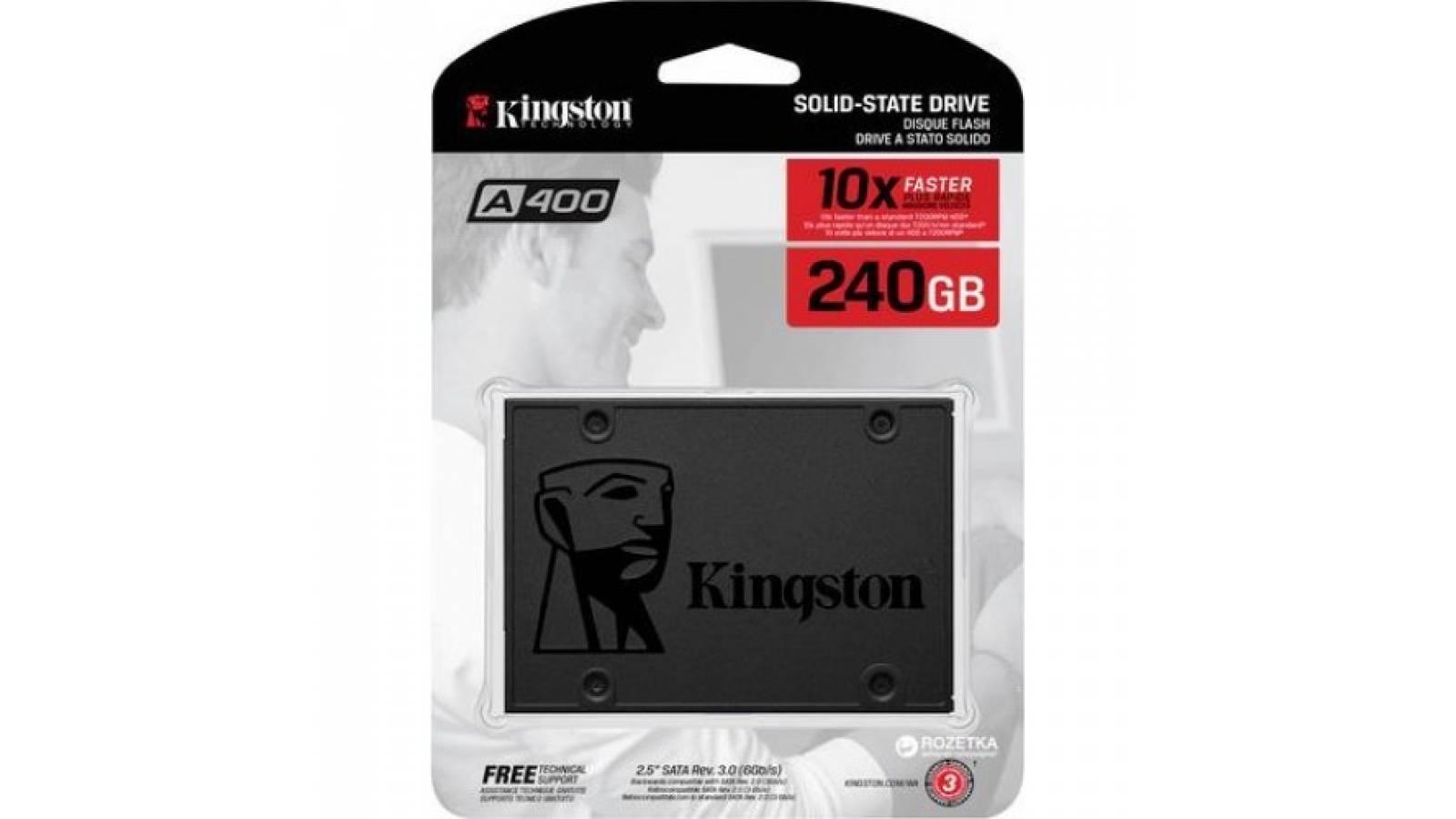 DISCO SOLIDO KINGSTON 240 GB SSDNOW A400 -SA400S37/240G