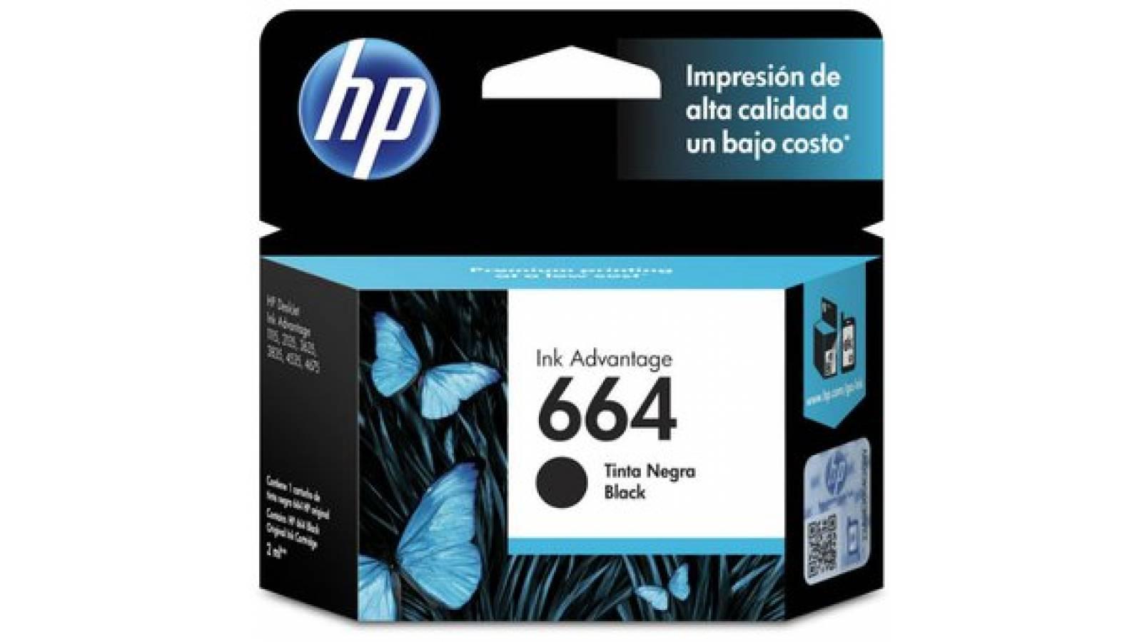 CARTUCHO  ORIGINAL HP 664 NEGRO