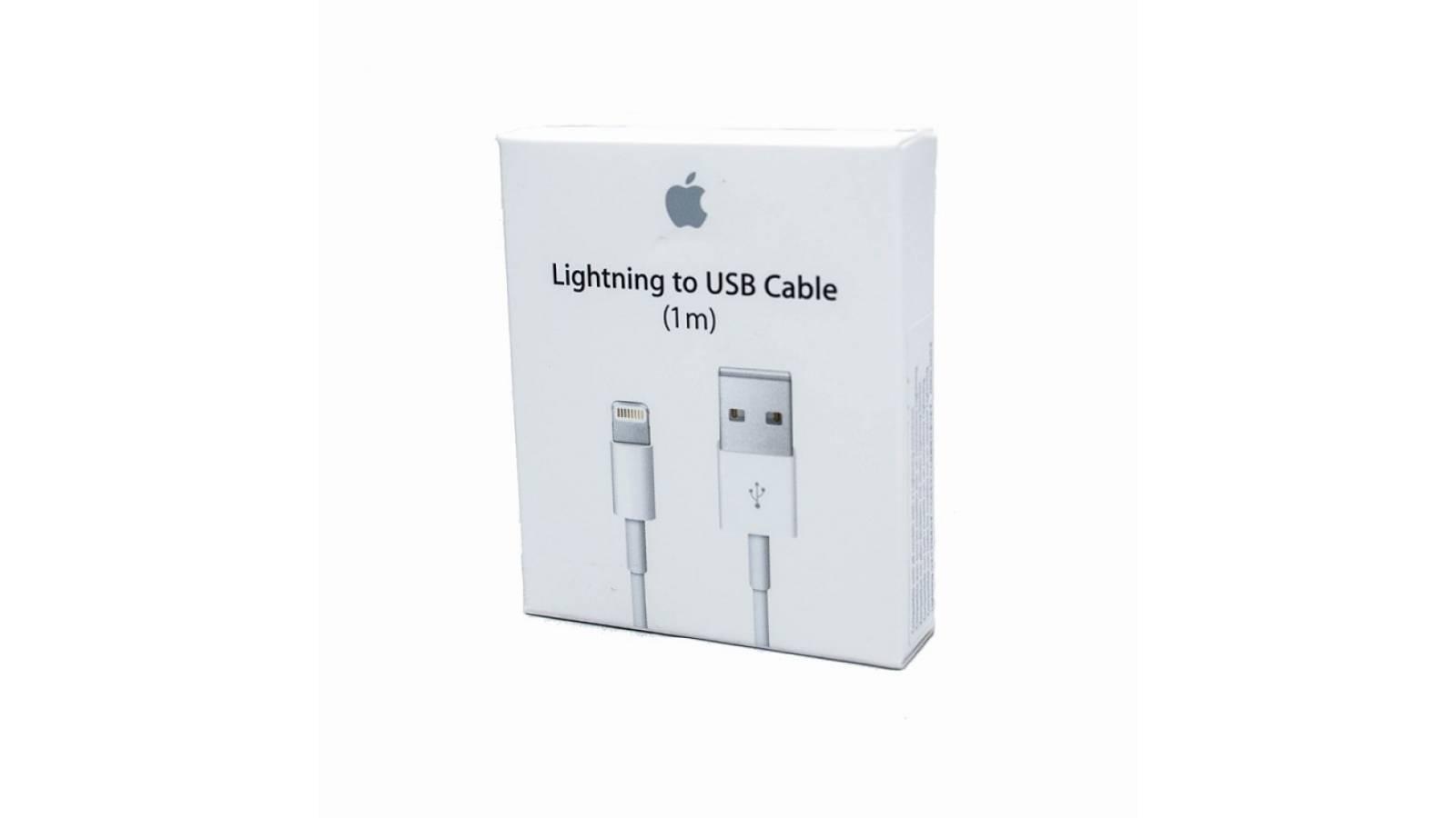 CABLE  USB  LIGHTNING APPLE ORIGINAL - IPHONE- IPAD -1 MT