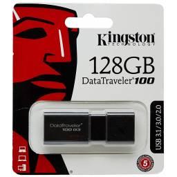 PENDRIVE KINGSTON 128 GB  DT100G3/128GB, USB 2.0 , USB 3.0, USB 3.1
