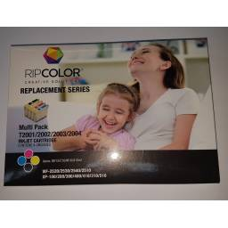 PACK EPSON T200 , RIPCOLOR 4 CARTUCHOS