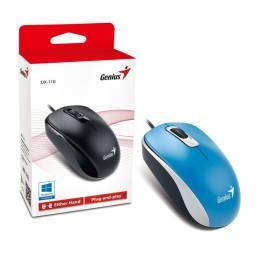 MOUSE USB GENIUS DX-110 G5 OPTICO AZUL