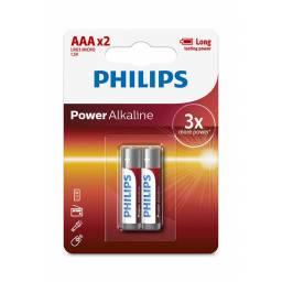 PILAS PHILIPS AAA ALKALINAS X 2 UNIDADES