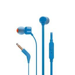 Auriculares con microfono JBL T110  azul