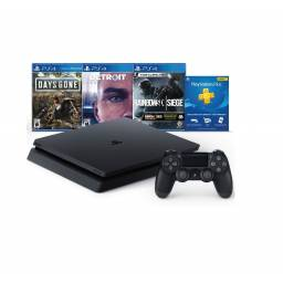 CONSOLA PS4 SLIM 1TB BUNDLE 3 JUEGOS , Days Gone, Detroit y Rainbow Six Siege