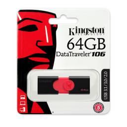 PENDRIVE KINGSTON 64 GB  DT10664GB, USB 2.0 , USB 3.0, USB 3.1