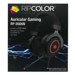 AURICULAR CON MICROFONO GAMING RIPCOLOR D026N COMPATIBLE  PS4 XBOX