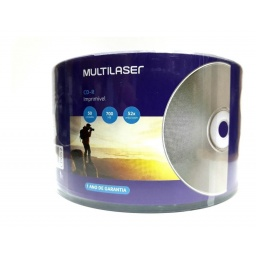 CD MULTILASER PRINTABLE 52X 700MB 80 MIN BULK 50 UNIDADES