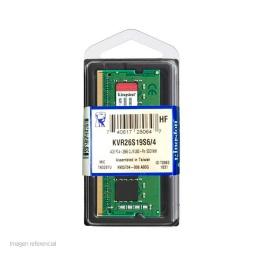 MEMORIA SODIMM 4GB DDR4 KINGSTON KVR26S19S64  -2666 MHZ