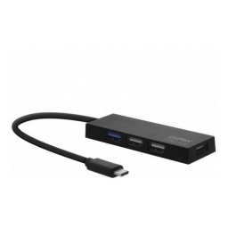 HUB CLIPTEC 621 TIPO C 1 + 3 PUERTOS USB2 BLACK