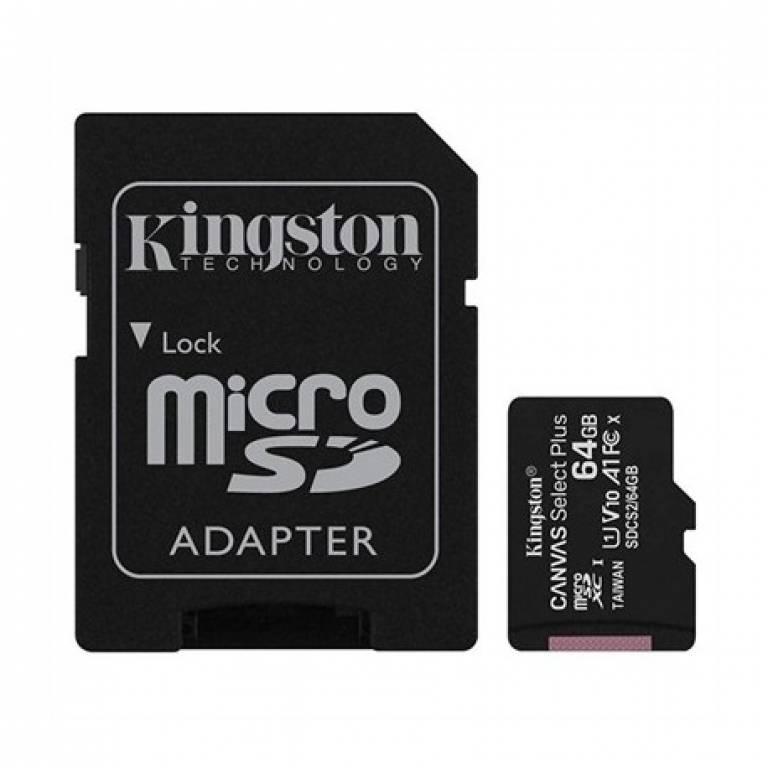 MEMORIA MICRO SD 64 GB KINGSTON CANVAS SELEC- SDCS2/64GB